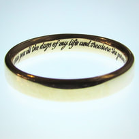Inside ring inscription
