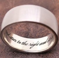 Hand engraved inside ring inscription